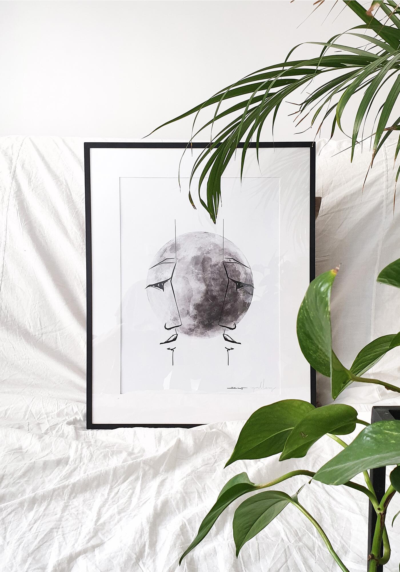 plakat Moon soul   Dusza Księżyca - zew.gallery   JestemSlow.pl