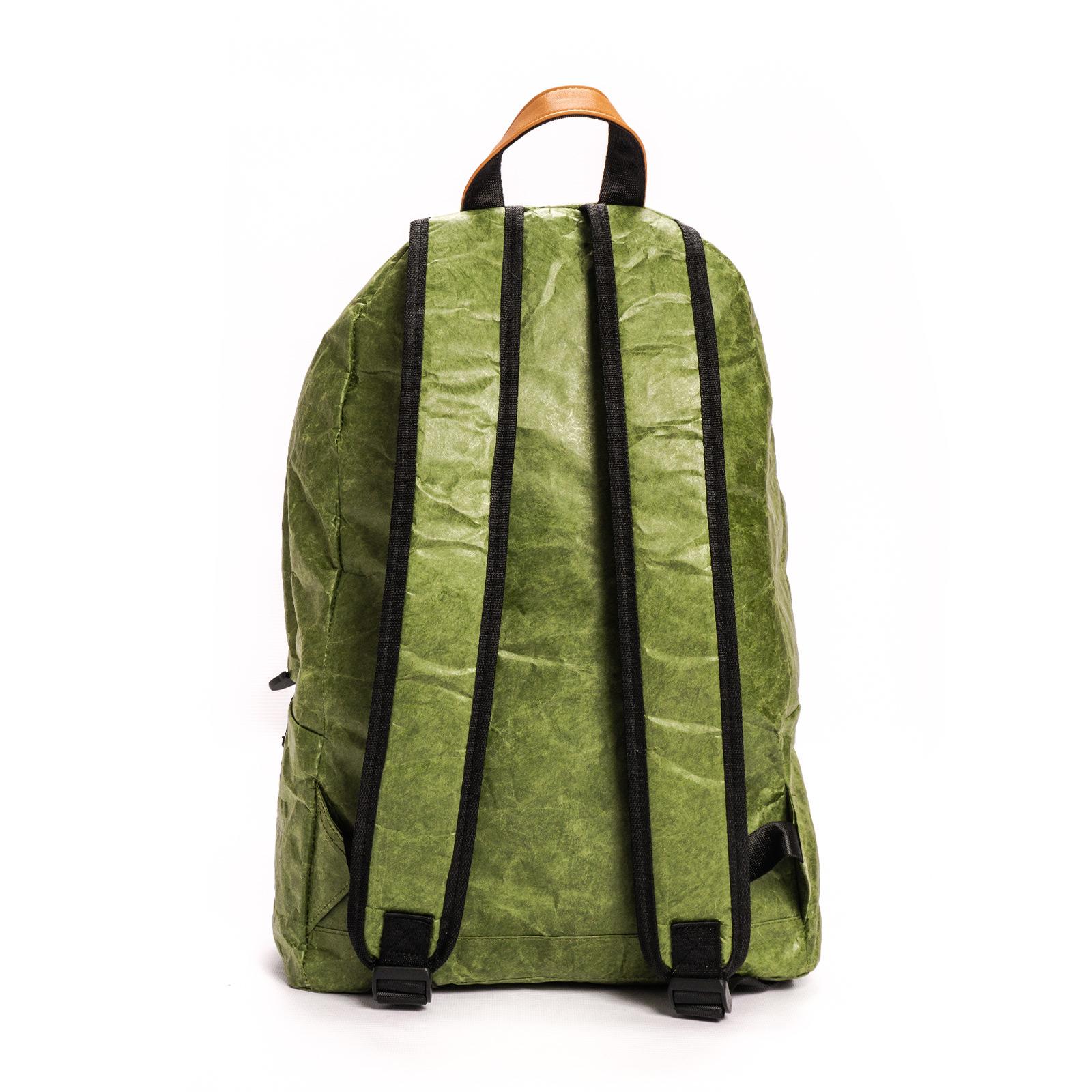 Zielony plecak z tyveku Papierowy Podróżnik z papieru - Napnap
