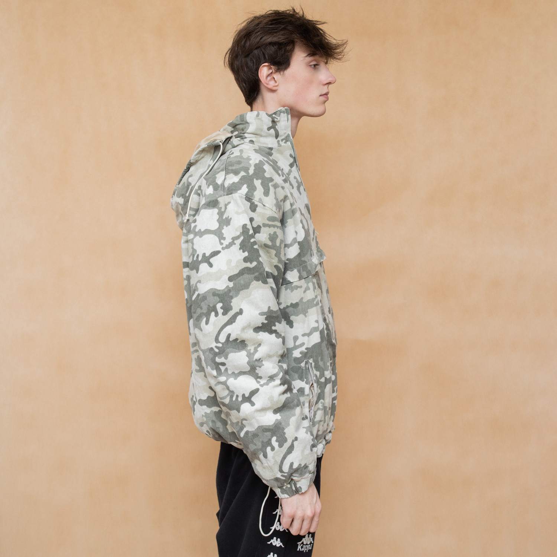 Ocieplana kurtka z kapturem we wzory moro - KEX Vintage Store | JestemSlow.pl
