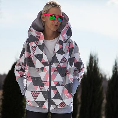 bluza boomber triangle - taff.one