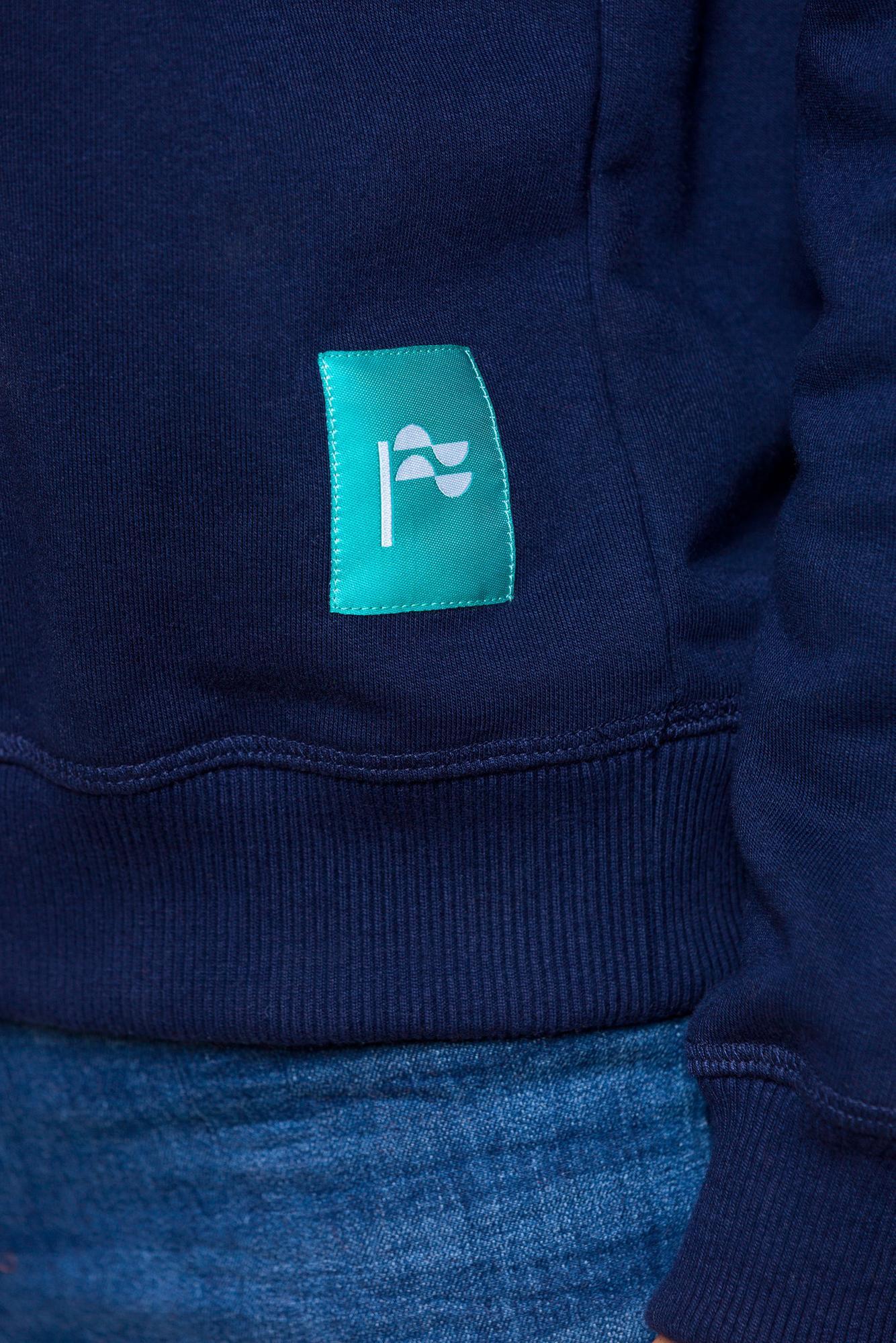BLUZA HAFTOWANA DAMSKA - RĘKA - bluza granatowa- Republic of Patterns