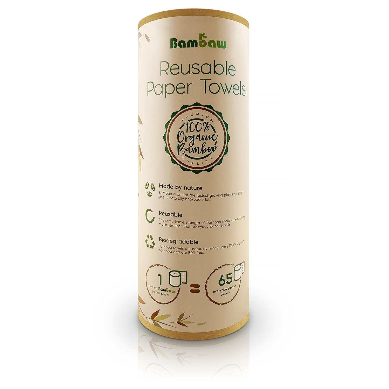 Wielorazowe ręczniki bambusowe - SAKWABAG