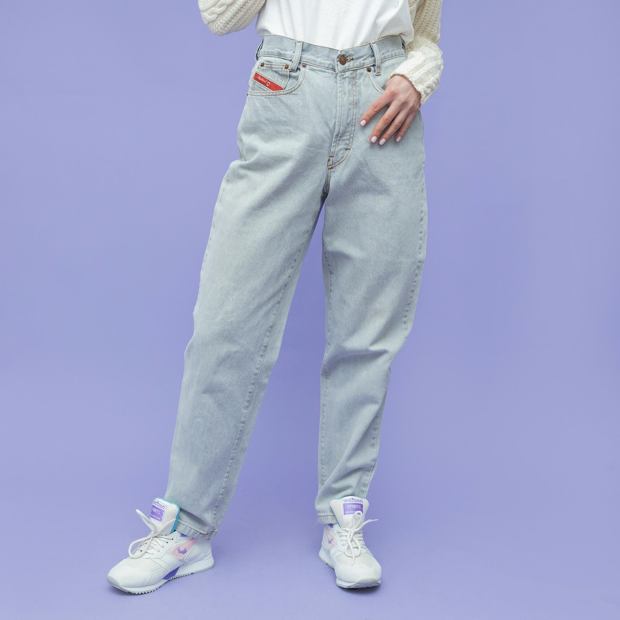Jeansy jasnoszare marki DIESEL - KEX Vintage Store | JestemSlow.pl