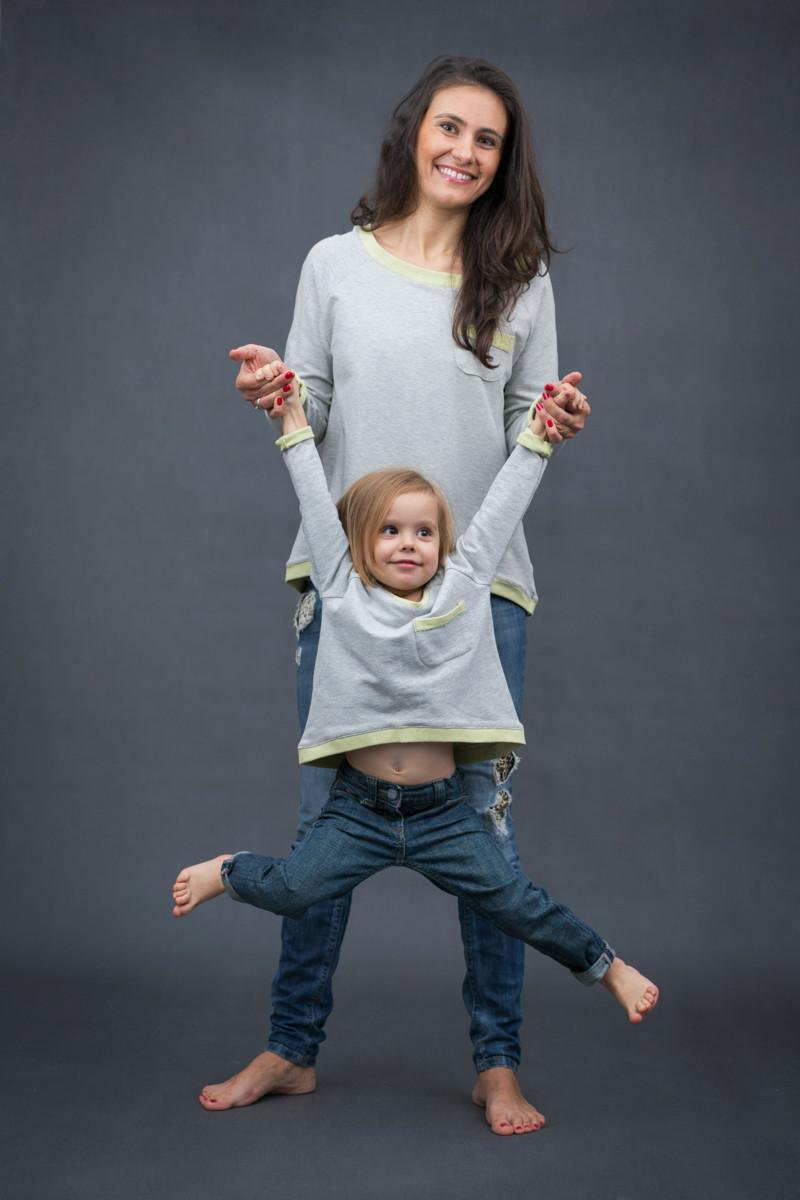 Bluza dresowa Two Face KIDS  bluza dla dziewczynki  bluza dla chłopca bawełniana bluza - The Same