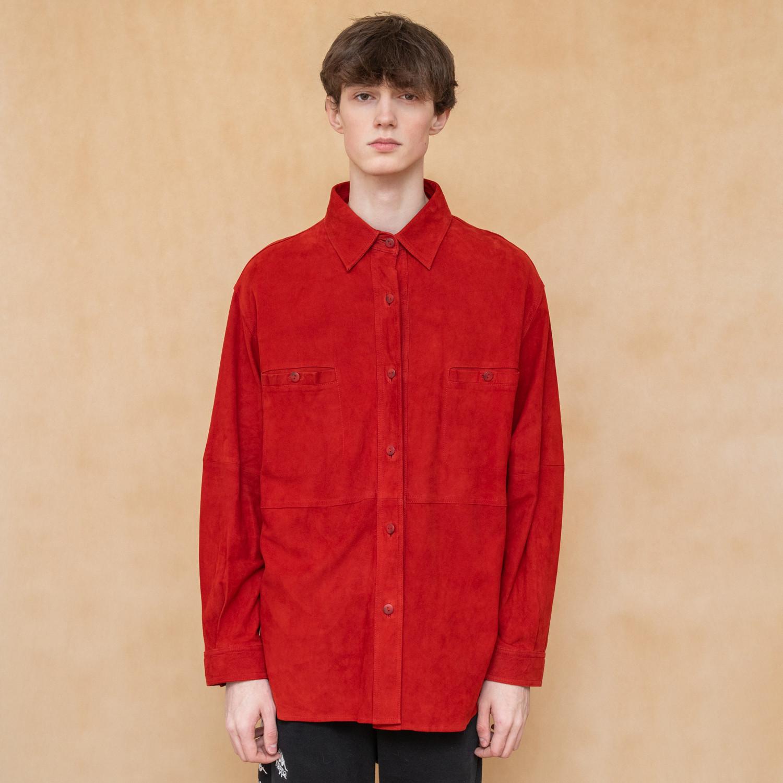 Koszula męska ze skóry w rudym kolorze - KEX Vintage Store | JestemSlow.pl