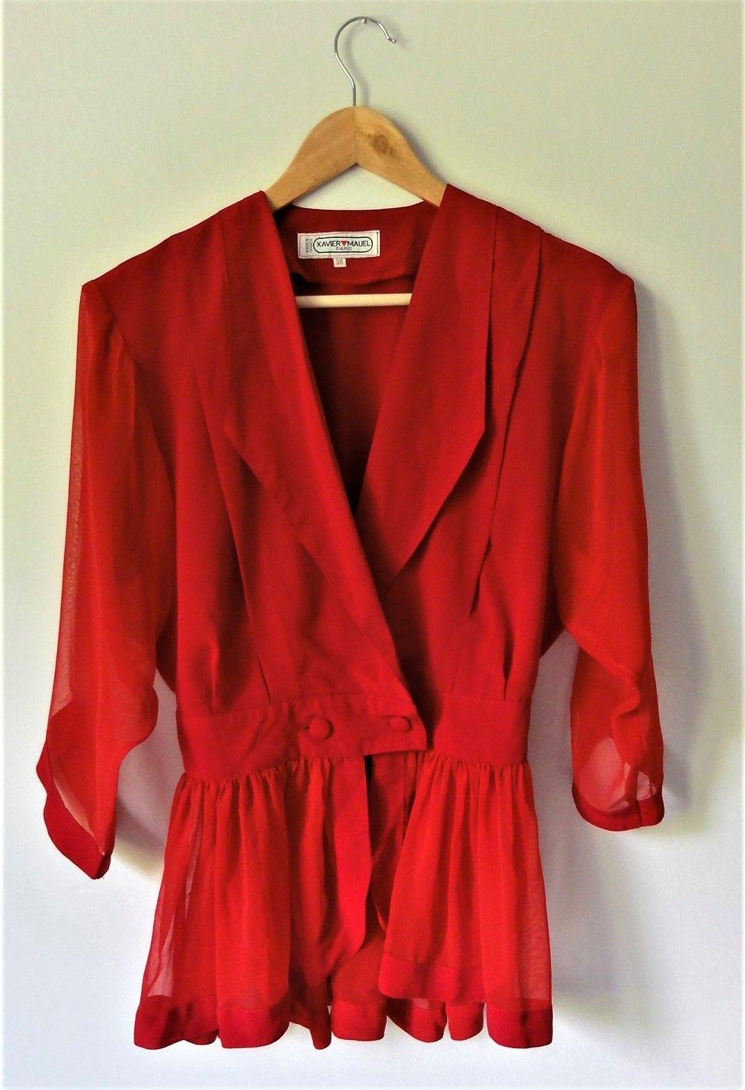 Niepowtarzalna vintage bluzka od Xavier Mauel Paris - PONOŚ SE vintage shop | JestemSlow.pl