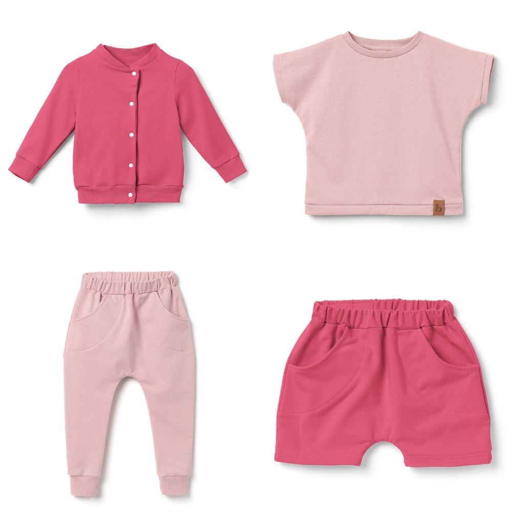 Spodnie dziewczęce pumpy- kwarcowy róż - Bubalove