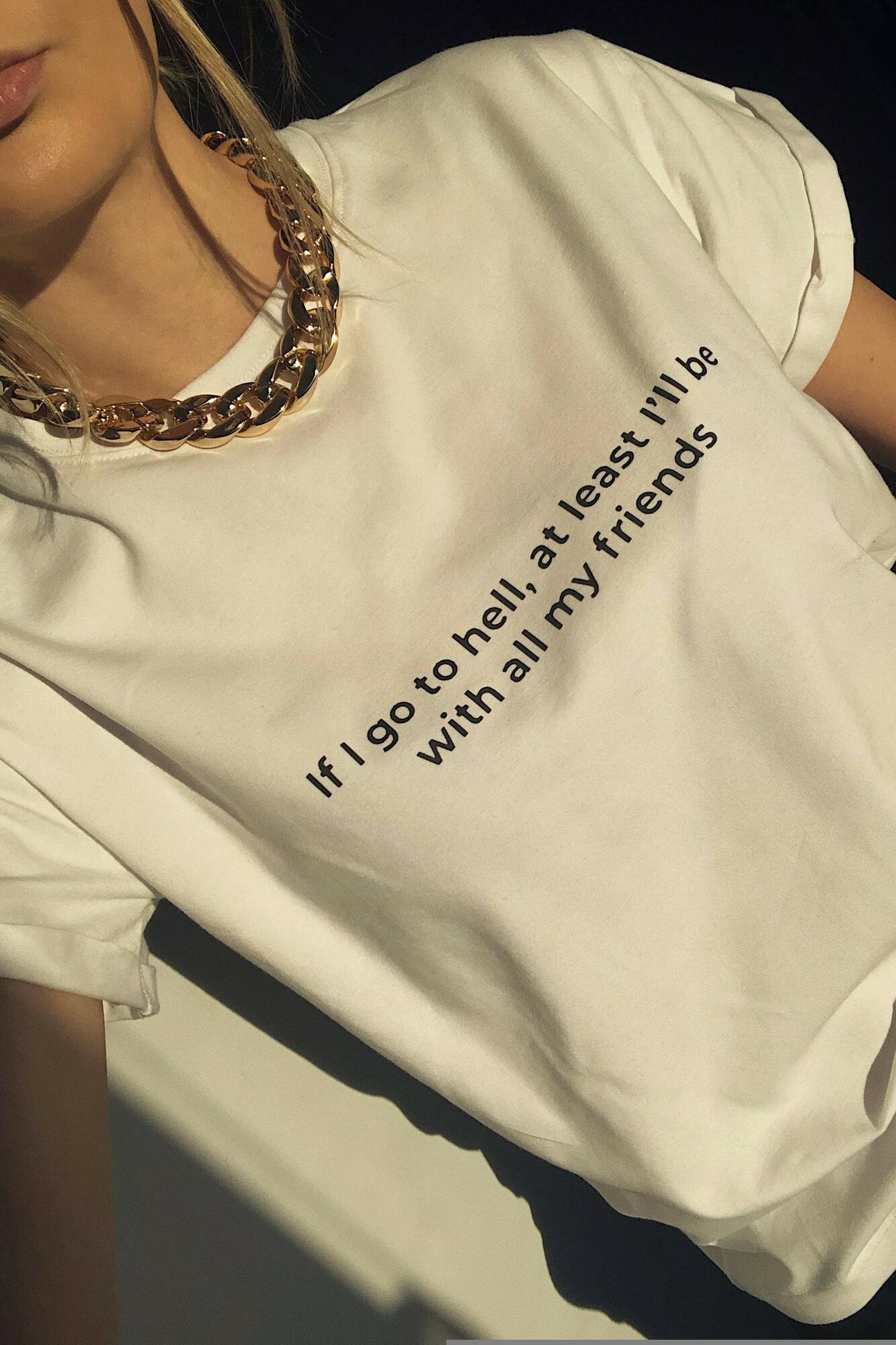 Biała koszulka z nadrukiem Friends T-shirt - whysoserious   JestemSlow.pl