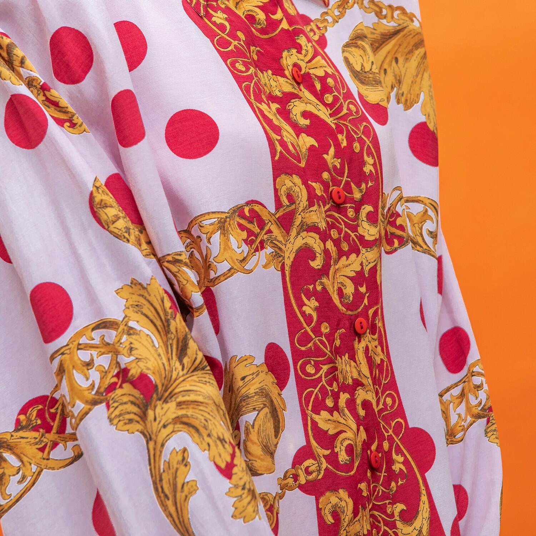 Koszula z wiskozy w barokowe wzory - KEX Vintage Store | JestemSlow.pl