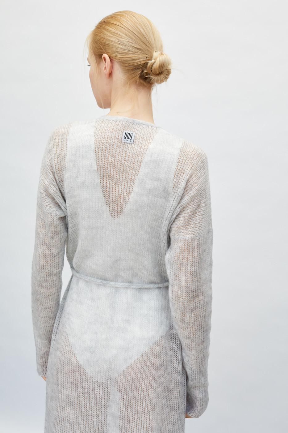 Lekki sweter mgła z paskiem długi - You by Tokarska | JestemSlow.pl
