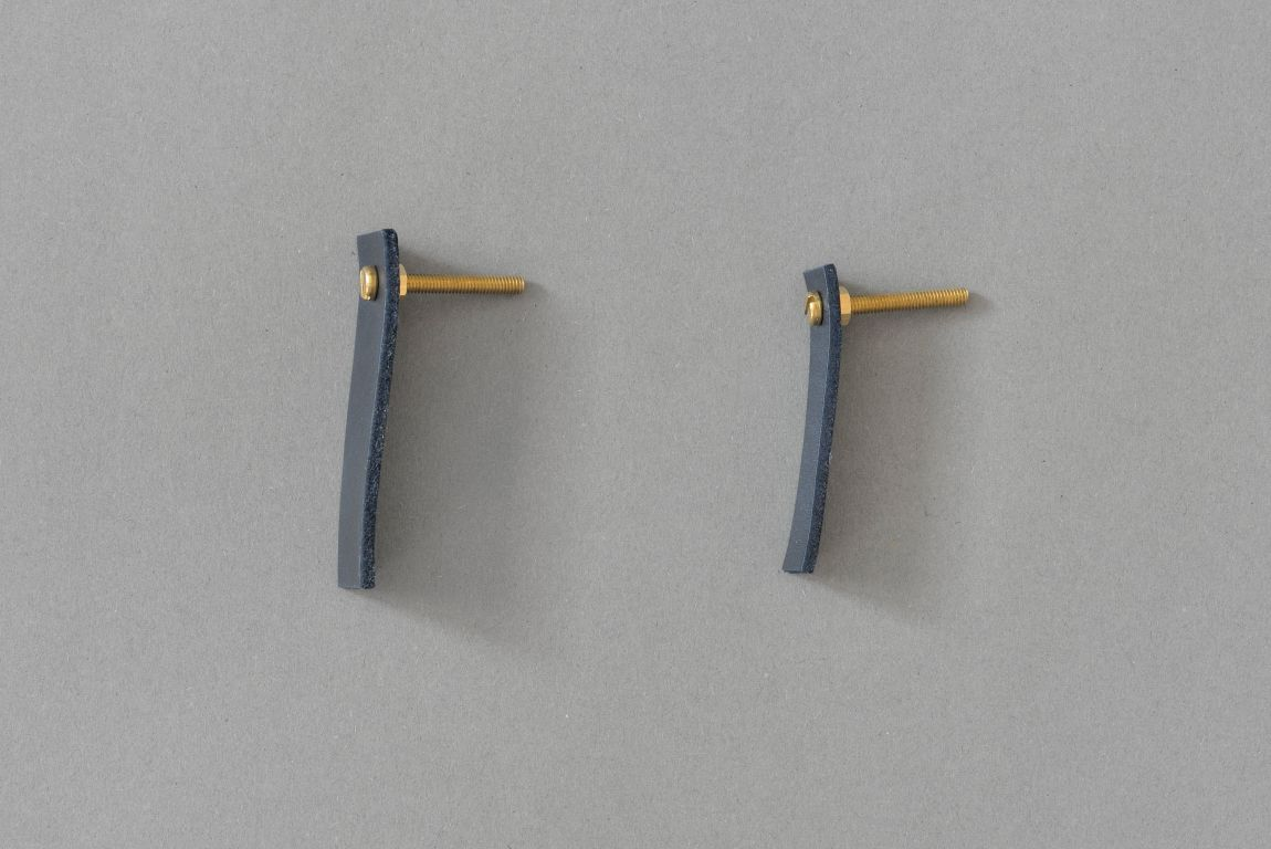 Skórzany uchwyt meblowy Lade Li #5 granatowy 15 mm - Steil