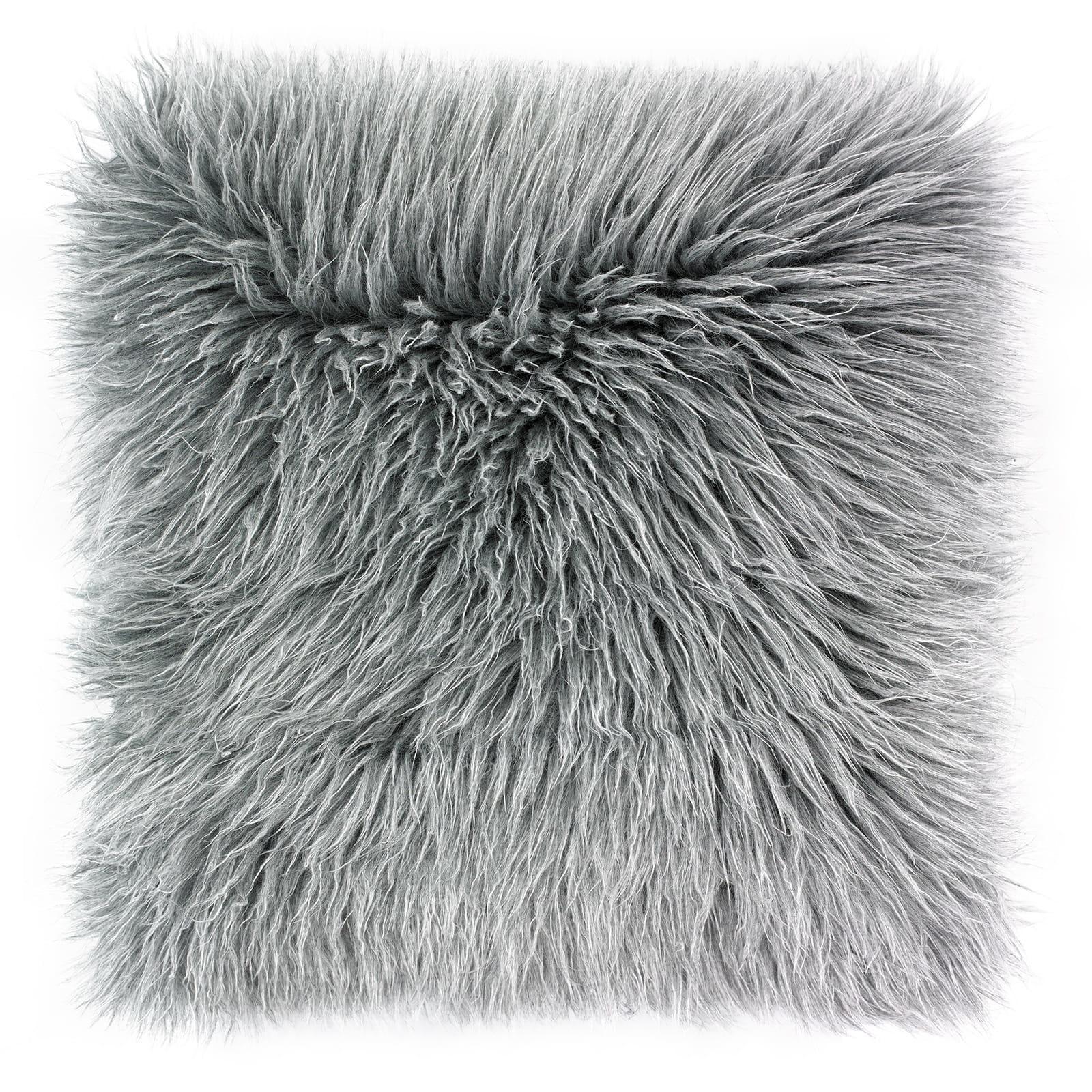 Poduszka dekoracyjna Fluffy Grey 50x50 cm - We Love Candles&We Love Beds