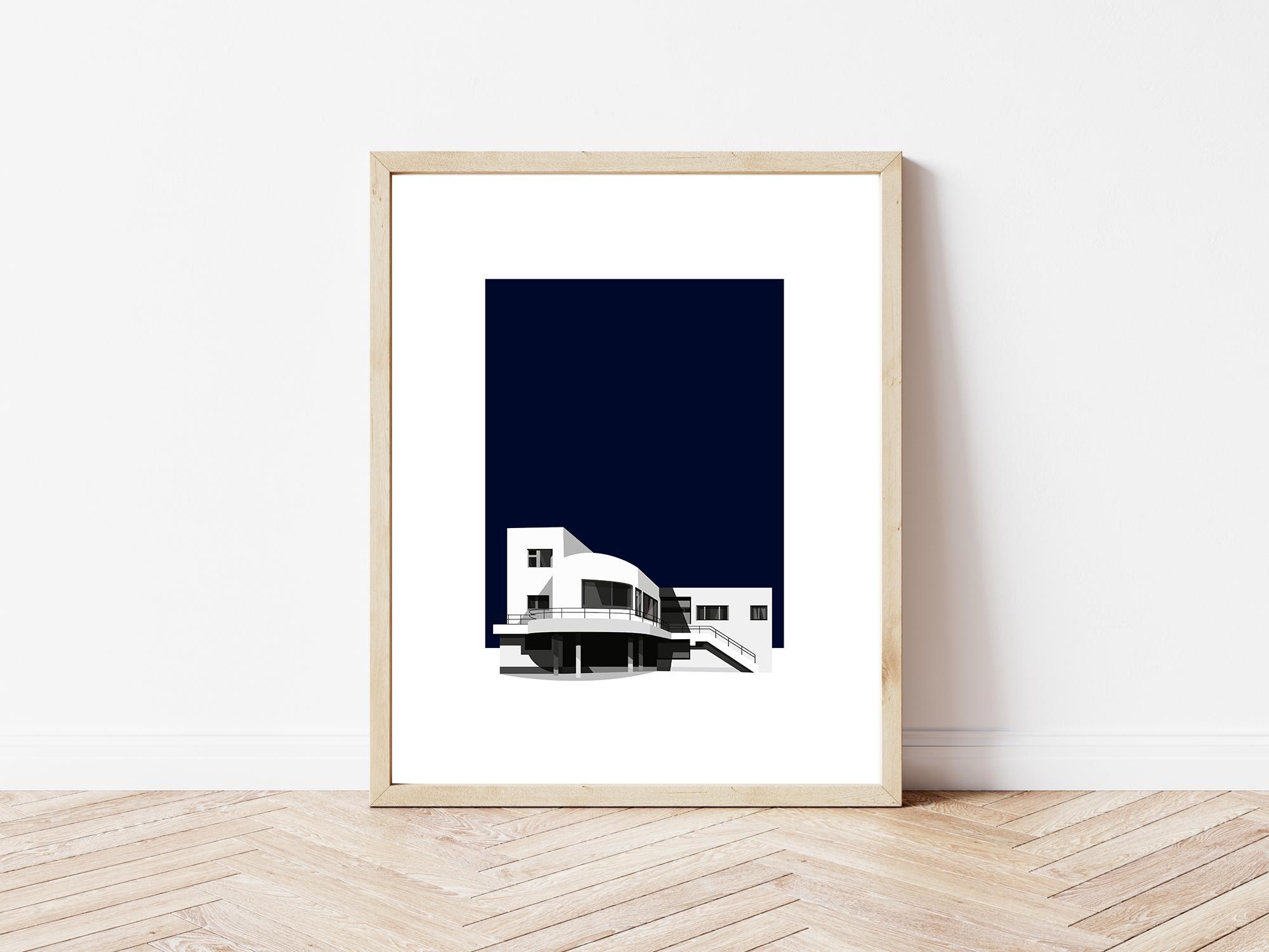 Kaśka - plakat Modernistyczna Willa Haska w Czechach - KABAK
