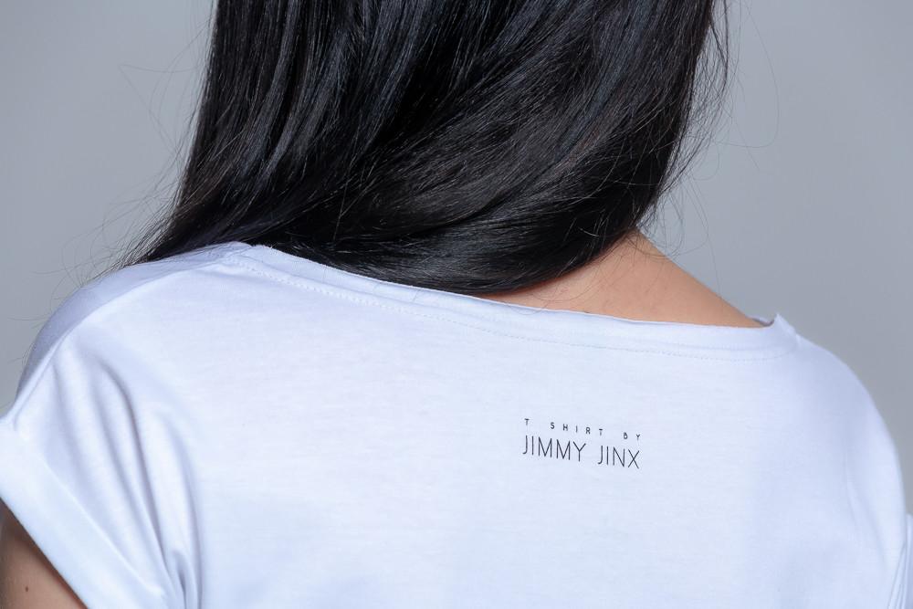 Koszulka z bawełny ekologicznej biała - Jimmy Jinx