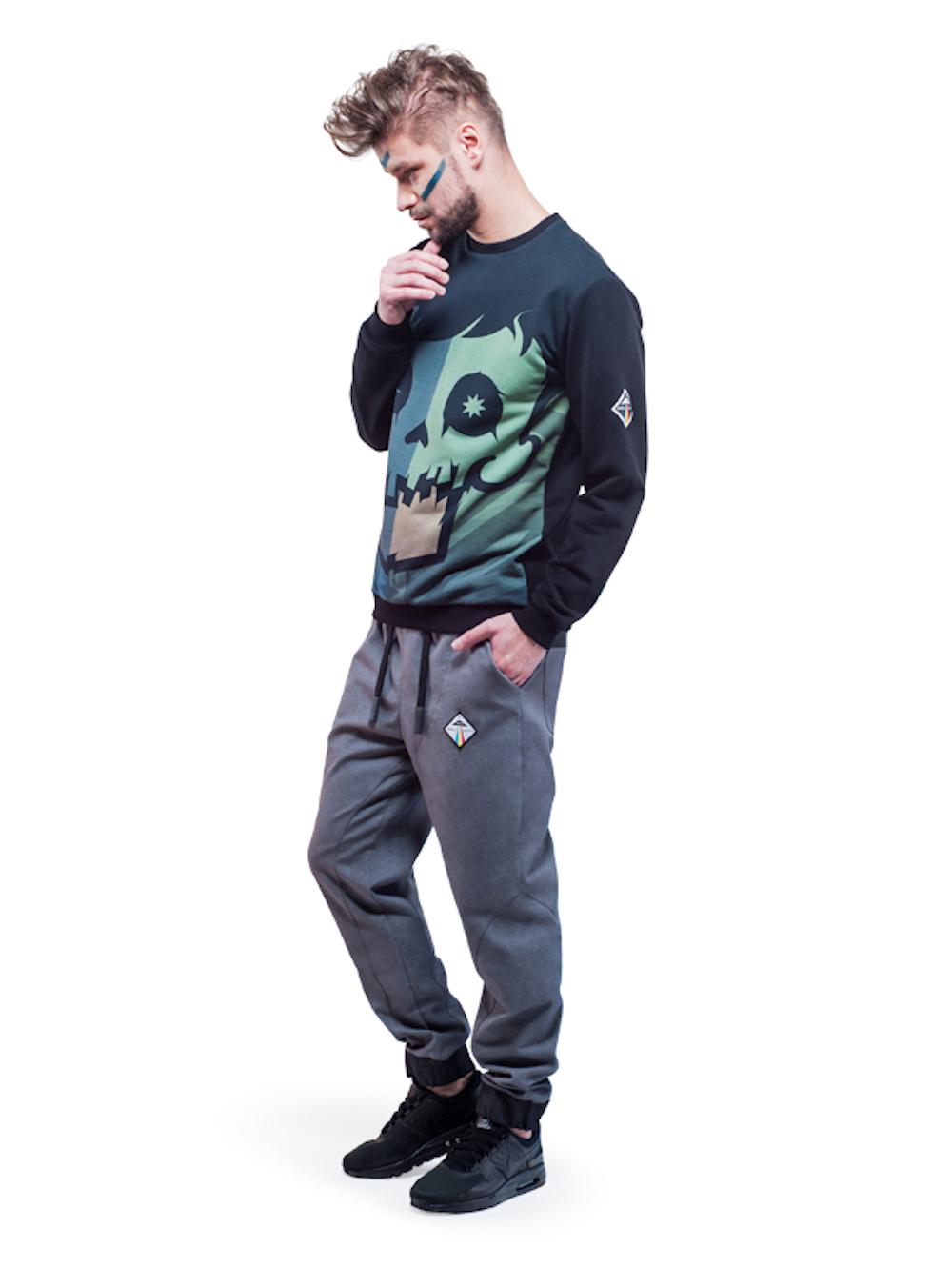 Crystal Skull Sweatshirt (Green) - Okuaku