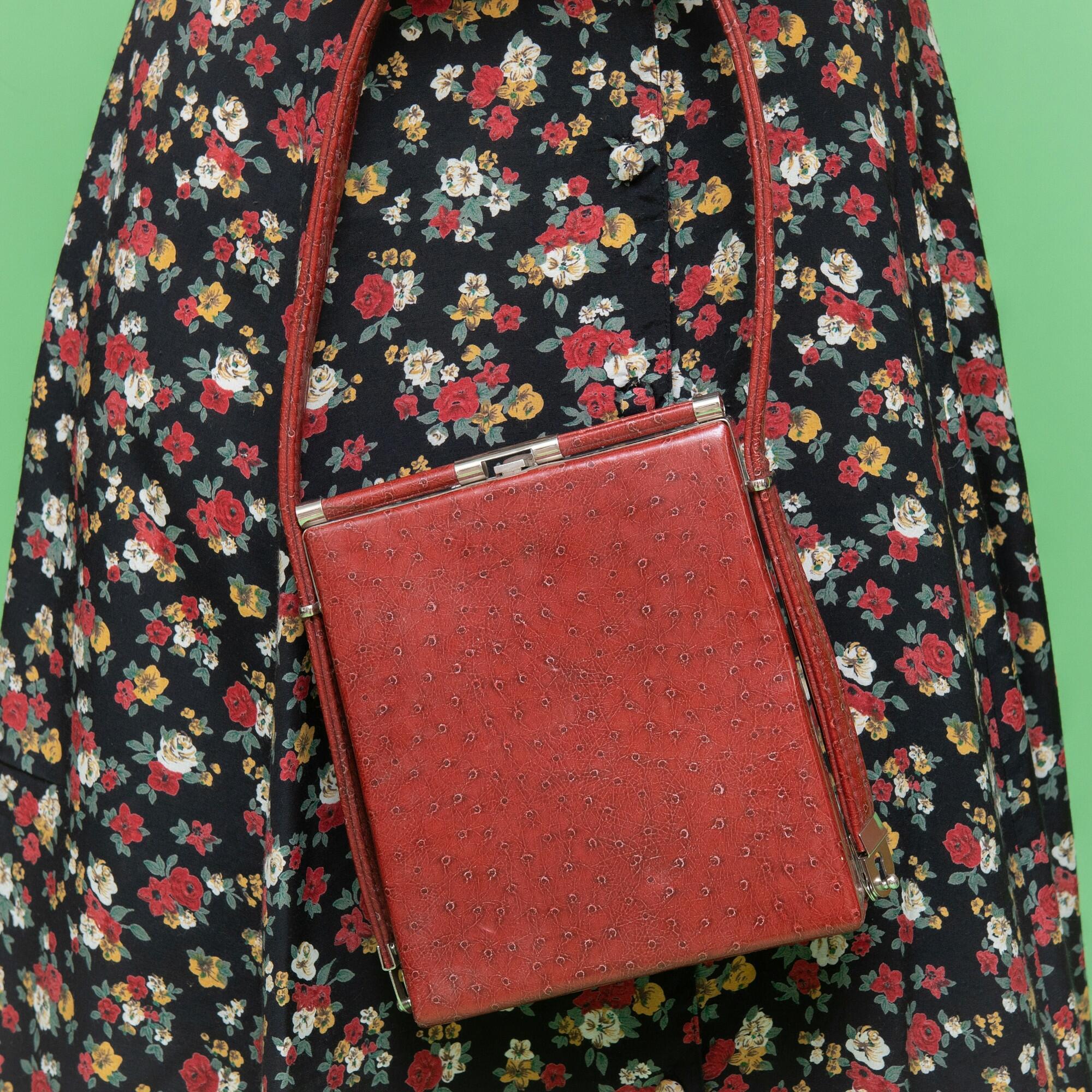 Mała, czerwona torebka z Tajlandii - KEX Vintage Store   JestemSlow.pl