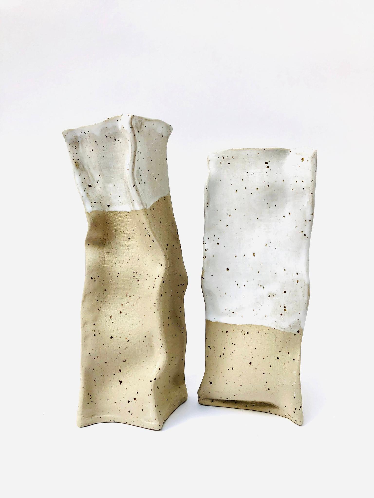 Wazoniki jasne PAPIEROWE TORBY małe 2 sztuki  Lui & Clay - Slow Store | JestemSlow.pl