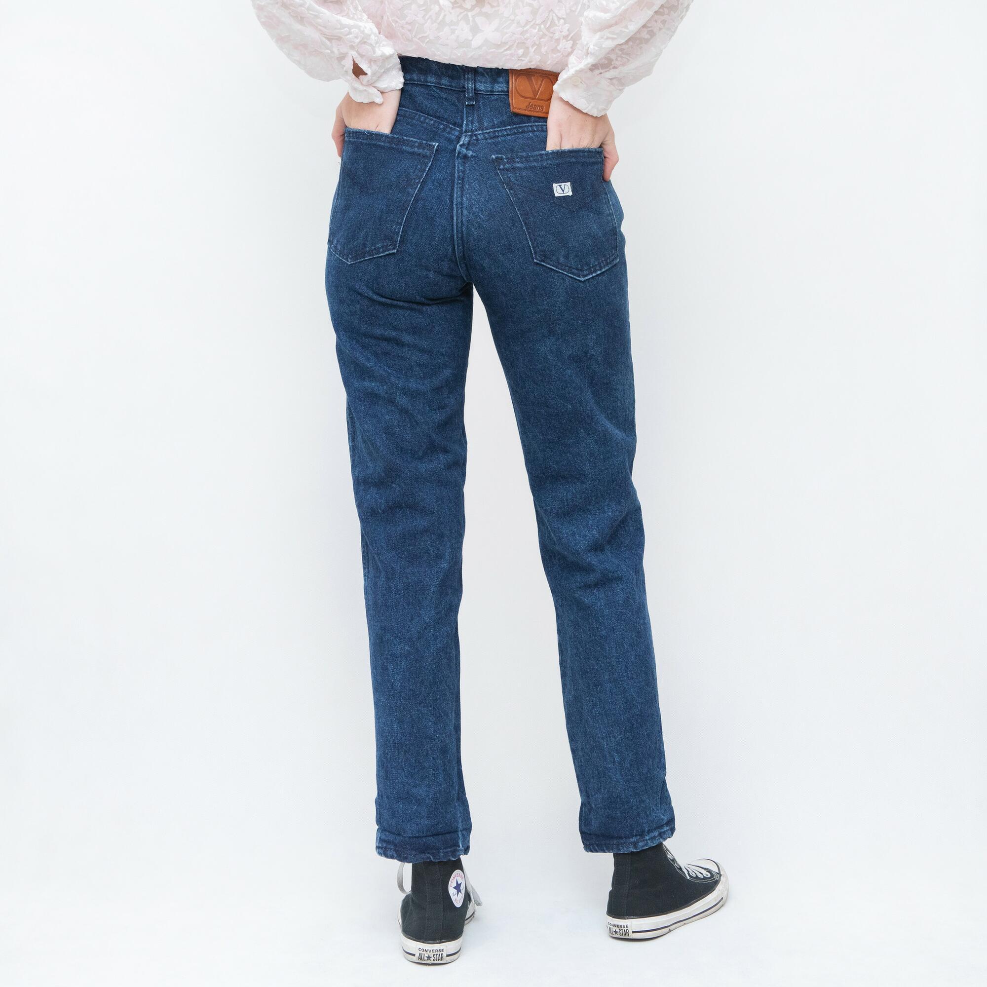 VALENTINO Spodnie w kolorze ciemnego granatu - KEX Vintage Store | JestemSlow.pl