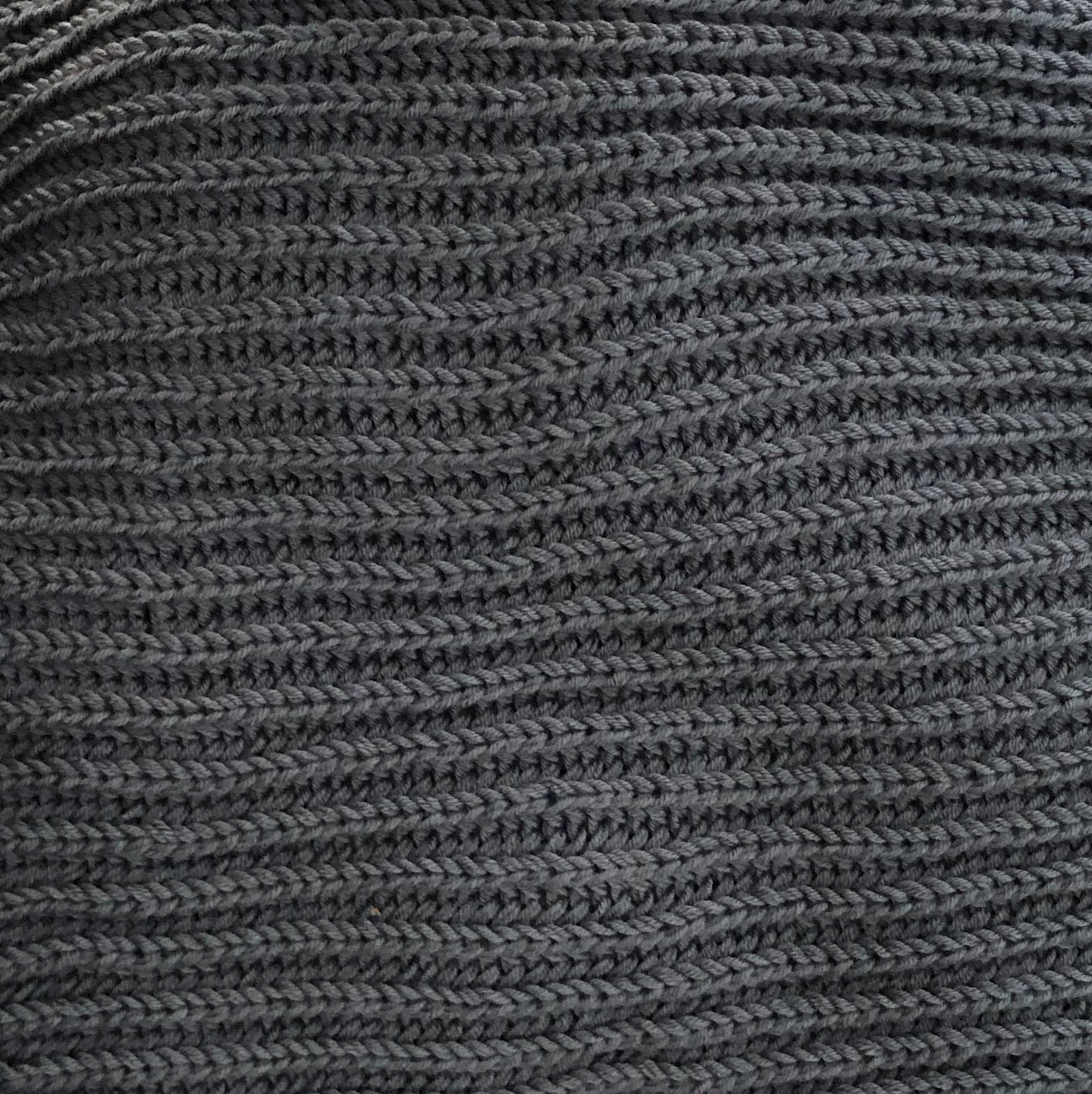 Mega długi SZAL handmade unisex szary - Lemme