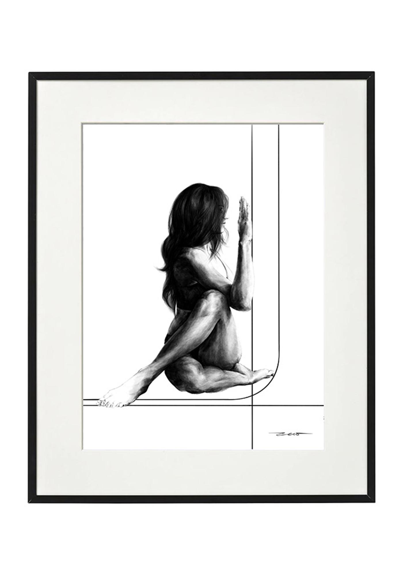 plakat joga   Marichyasana   pozycja Mędrca - zew.gallery   JestemSlow.pl