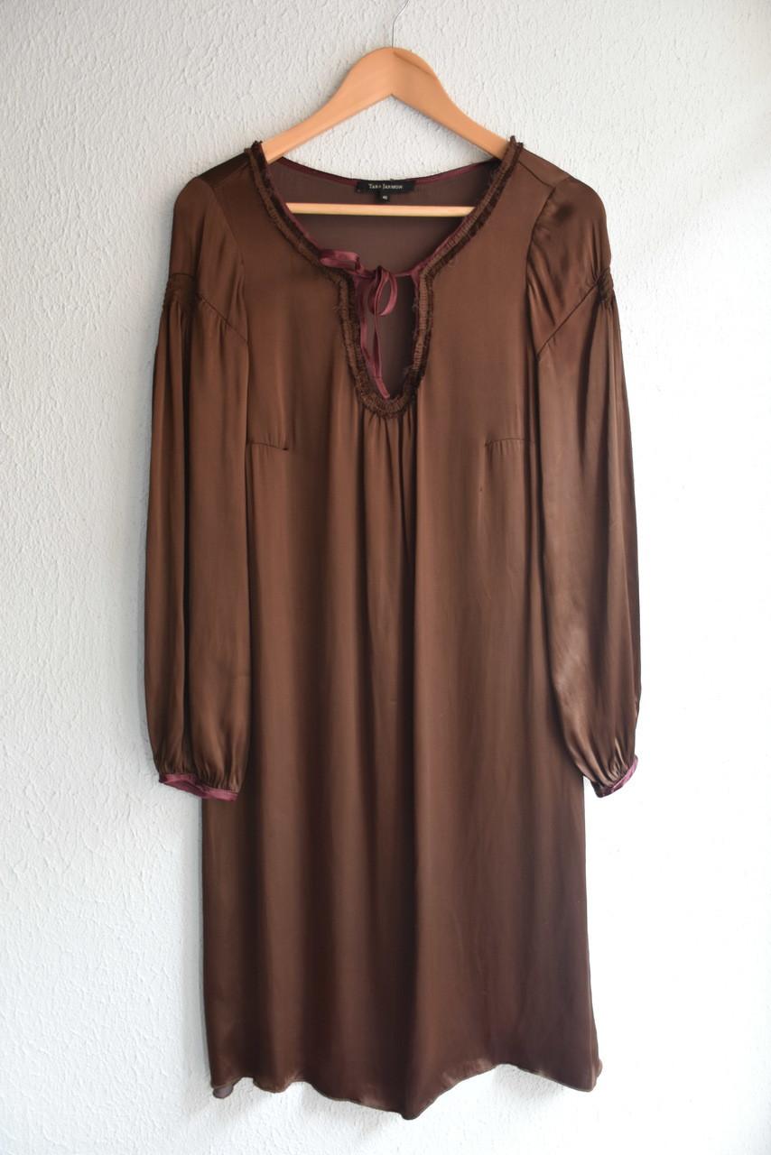 Czekoladowa midi sukienka - PONOŚ SE vintage shop | JestemSlow.pl