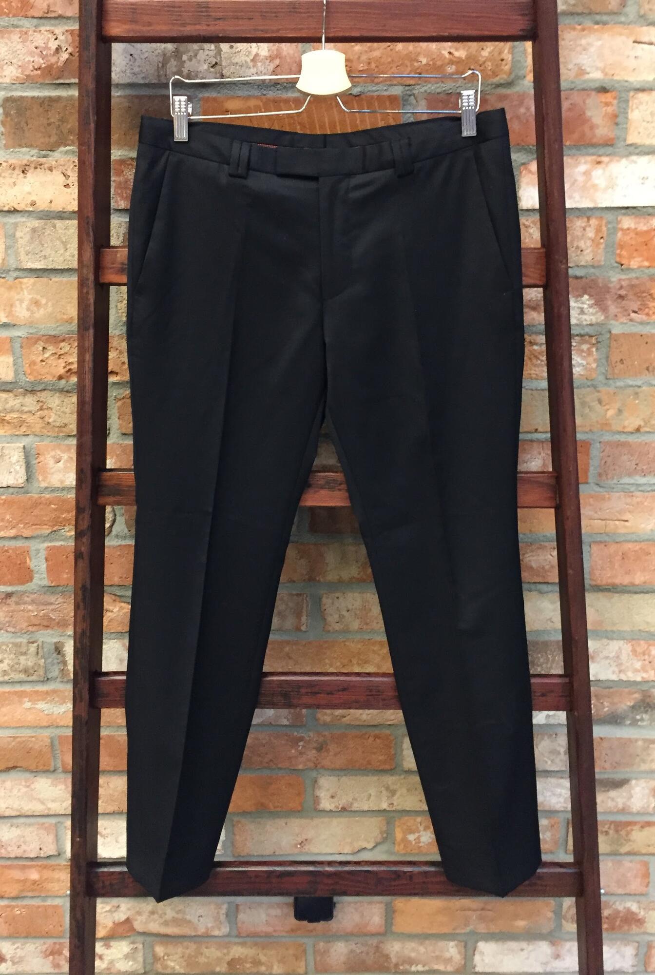 Spodnie HUGO BOSS wełniane czarne - Vintage Store   JestemSlow.pl