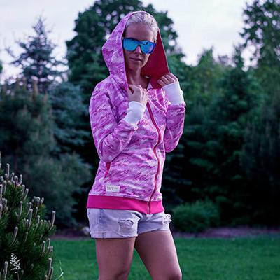 bluza HOODIE-NI pink mazy - taff.one