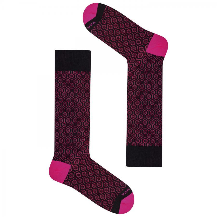 Wełniane skarpetki merino - Wełniana 60m3 (pink) - Takapara | JestemSlow.pl