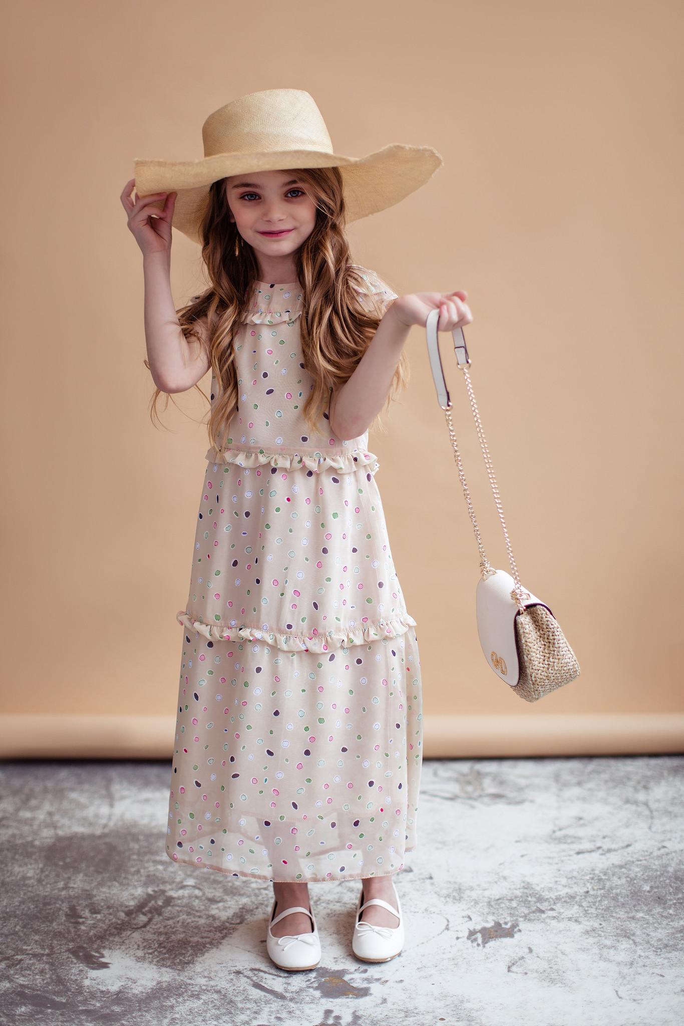 Sukienka beżowa - Domino.little.dress