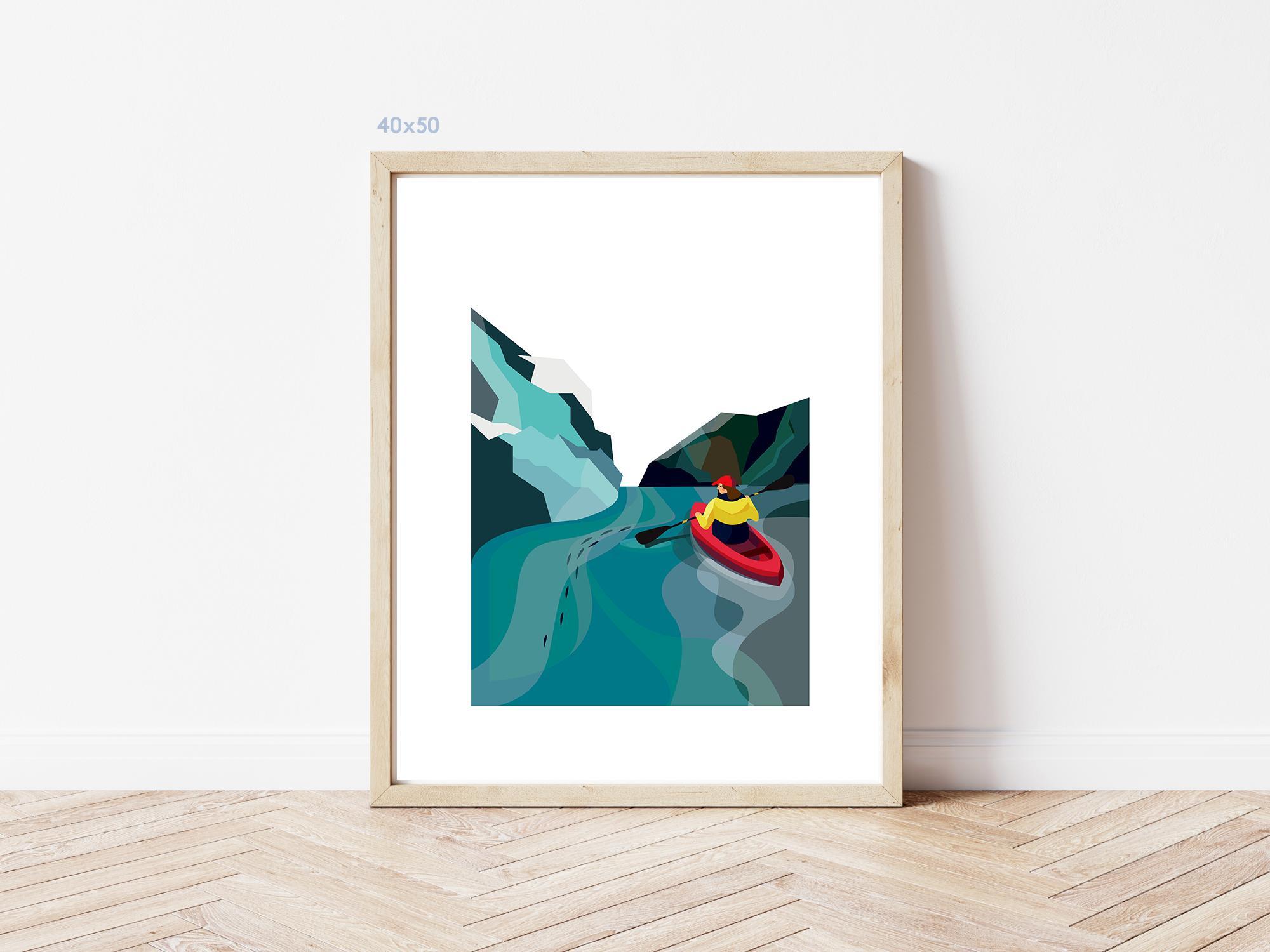 Kaśka - plakat Kajakarz - KABAK