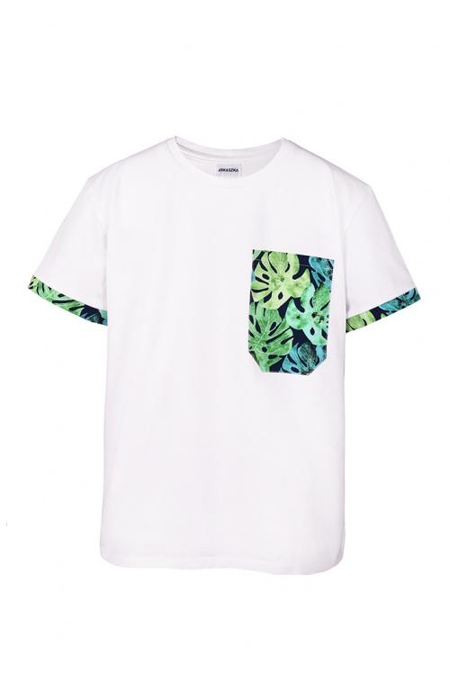 T-shirt męski Monster plant Biały - Kokoszka