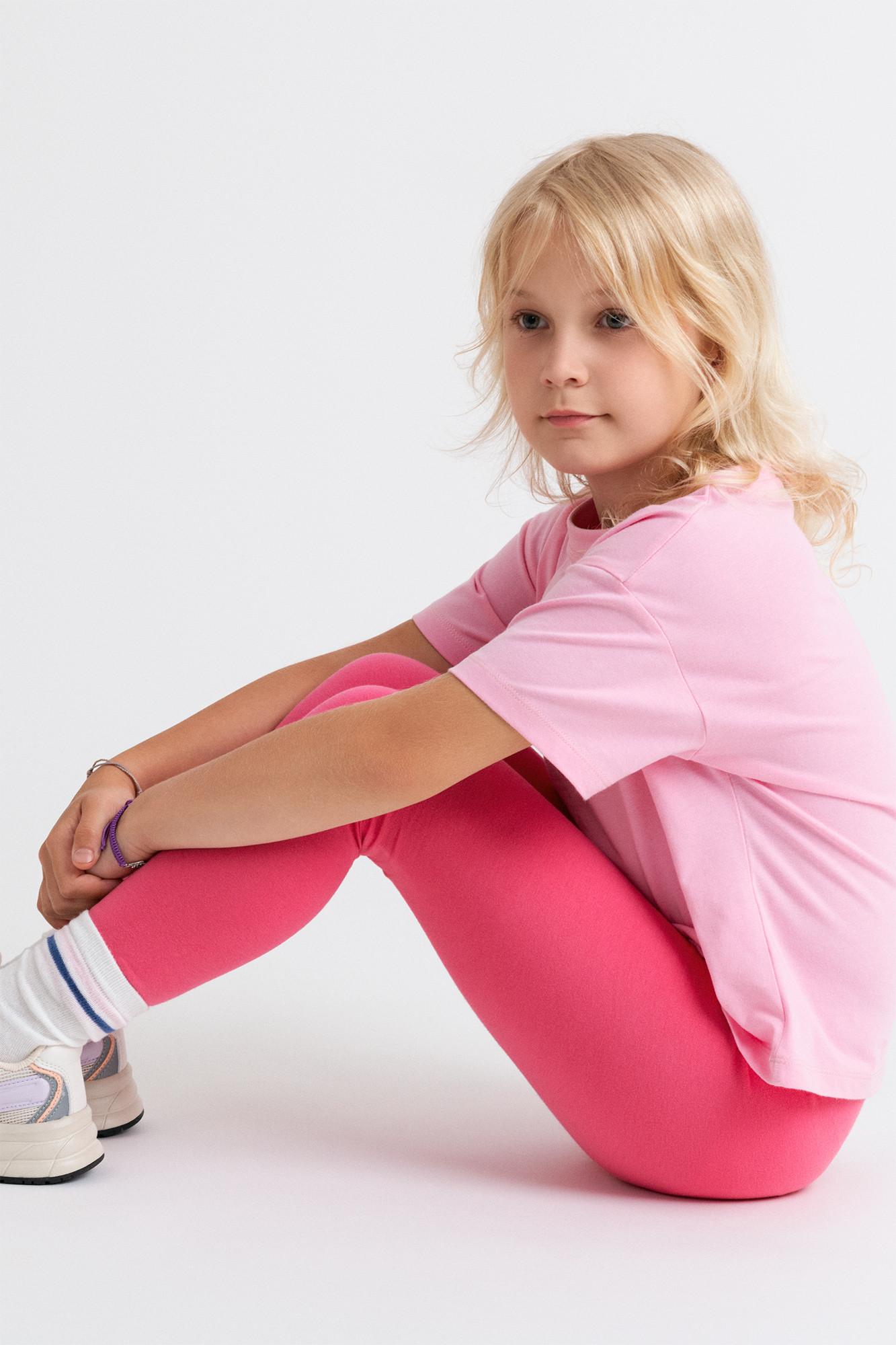 Legginsy dziecięce różowe - CrissCross | JestemSlow.pl