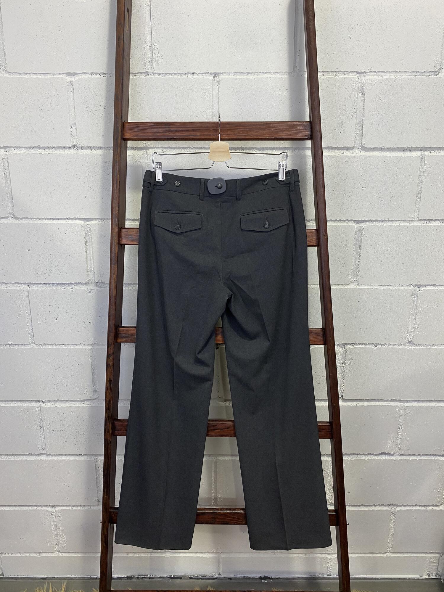 Eleganckie grafitowe spodnie w kant H&M - Vintage Store | JestemSlow.pl