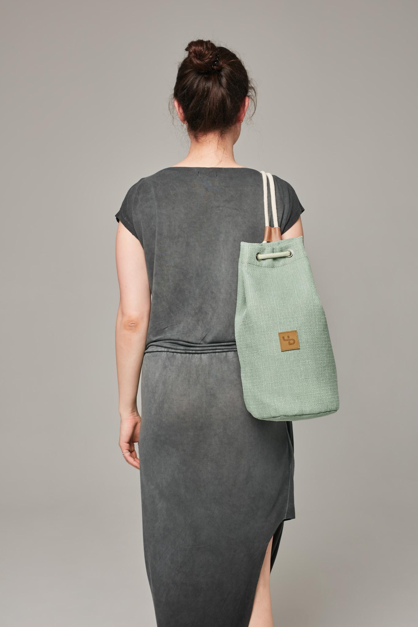 Miętowy plecak-tuba / fresh mint nieprzemakalny wytrzymały na wyjazd - Lootbag
