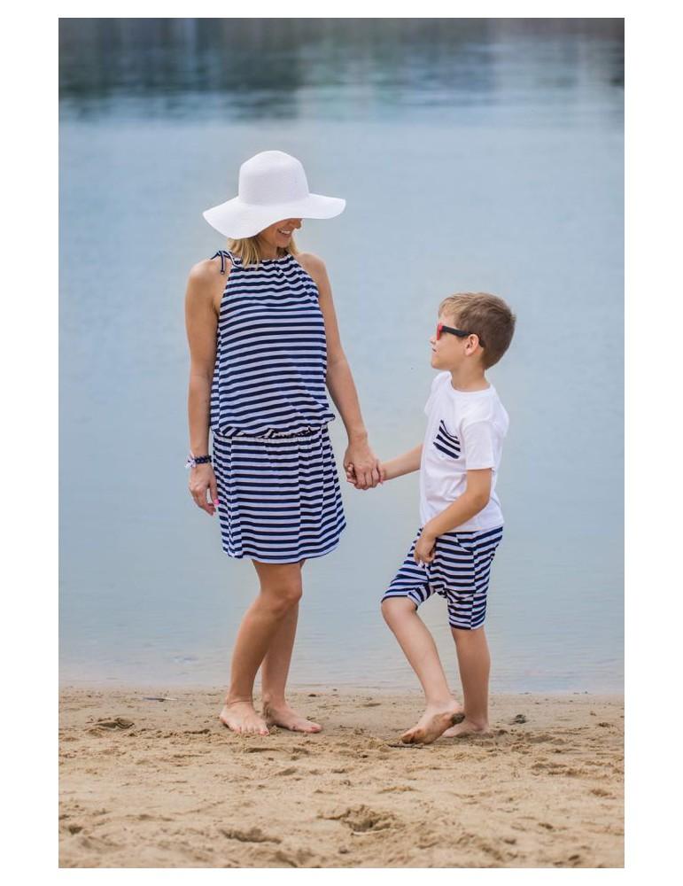 Komplet dla mamy i syna w paski - Lovemade