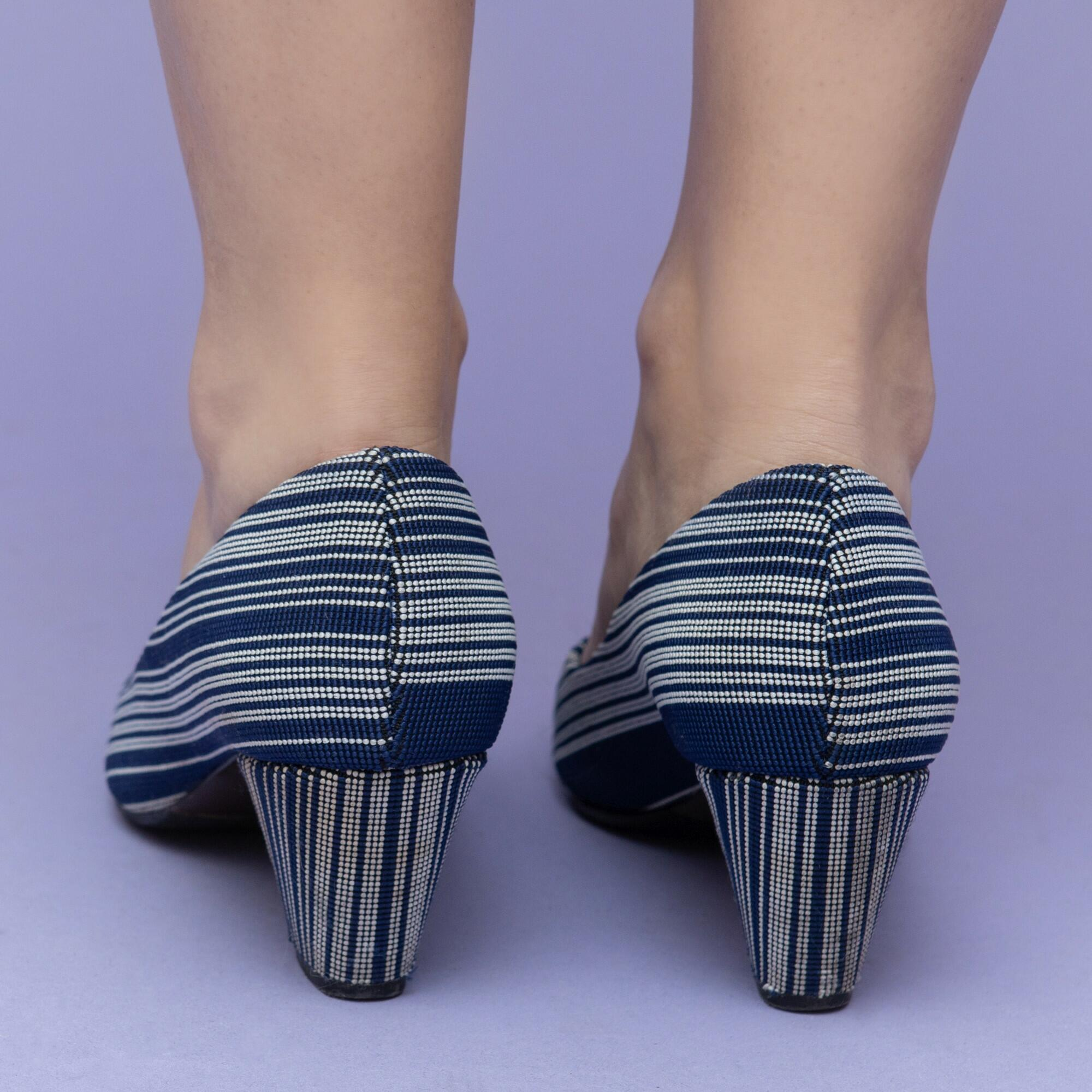 Granatowo-białe buty na słupku United Nude r. 38 - KEX Vintage Store | JestemSlow.pl