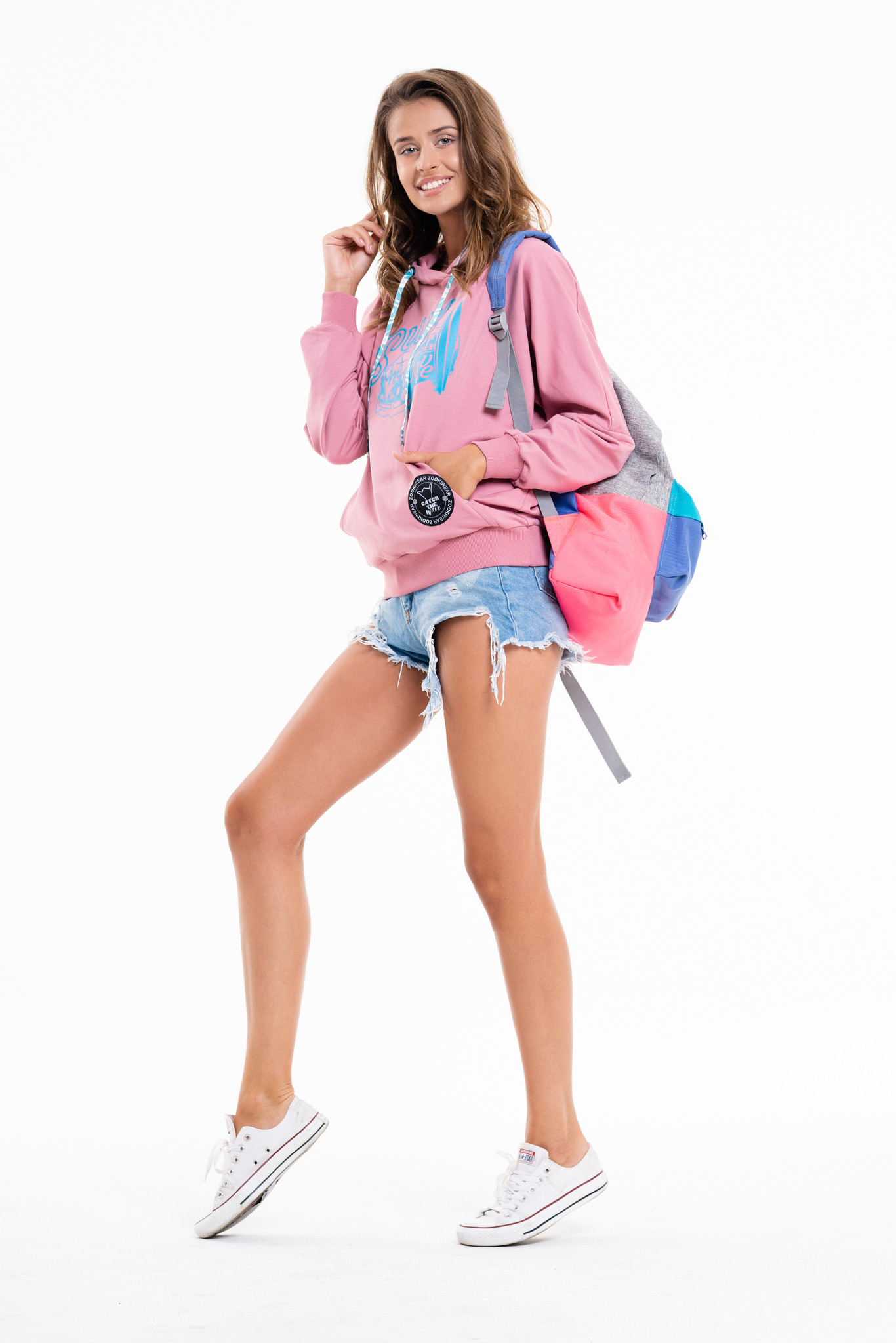 Ponczo Choka Pink SURF - Zooki Wear | JestemSlow.pl