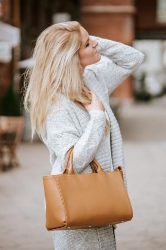 BAG IN THE CITY - skórzana torebka - brązowa - Nashe | JestemSlow.pl