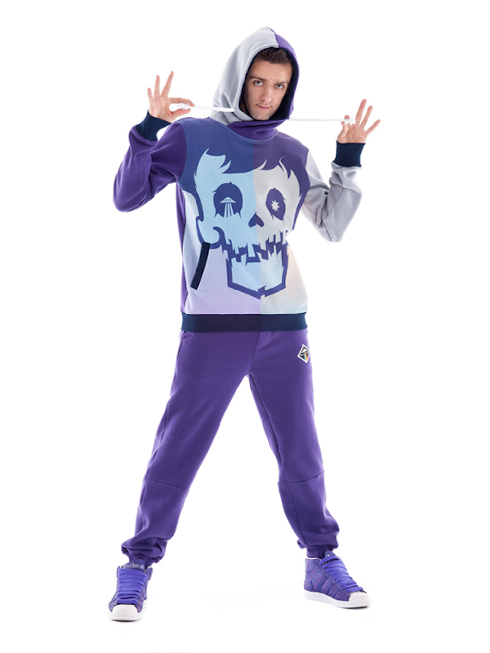 Crystal Skull Hoodie (Violet) - Okuaku