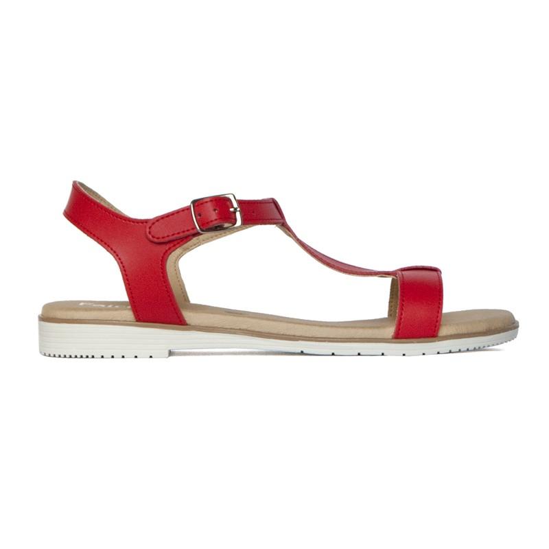 FERRI czerwone sandały - Fairma Ethical Design | JestemSlow.pl