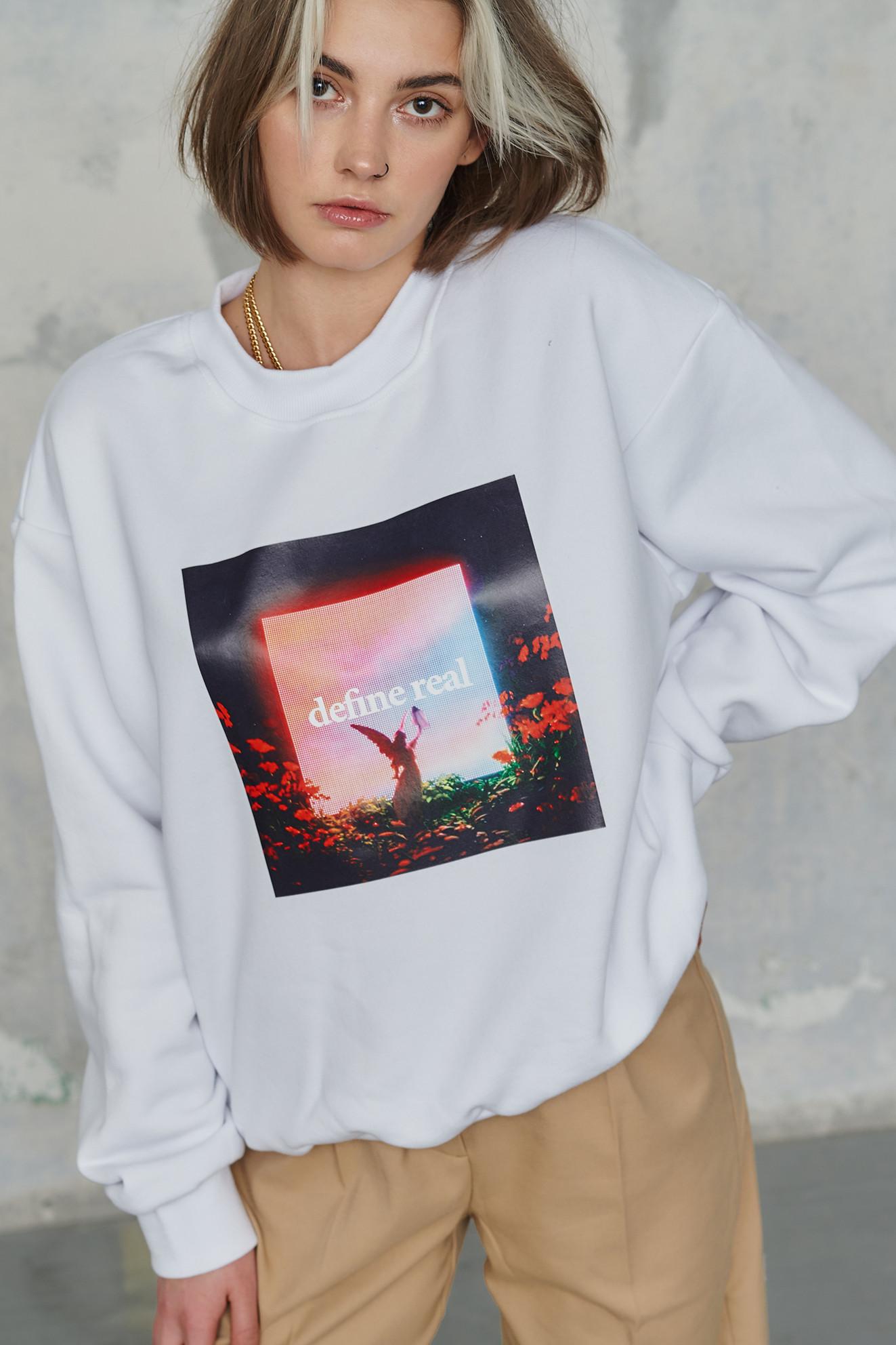 Define Real White Sweatshirt - whysoserious   JestemSlow.pl