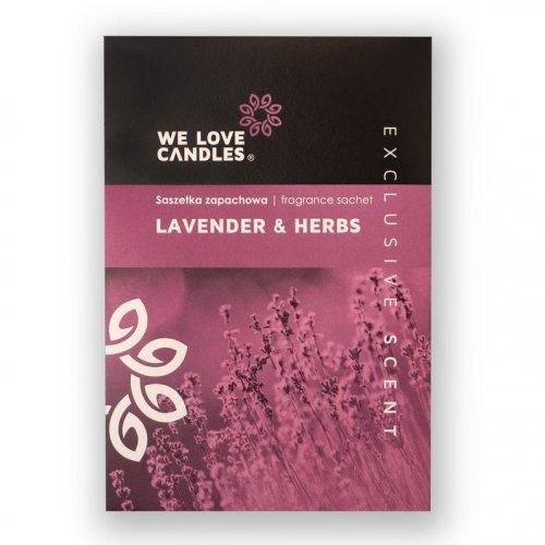 Saszetka zapachowa Lavender & Herbs - We Love Candles&We Love Beds   JestemSlow.pl