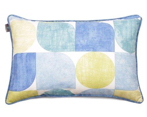 Poduszka dekoracyjna Circles Blue And Green 40x60 cm - We Love Candles&We Love Beds | JestemSlow.pl