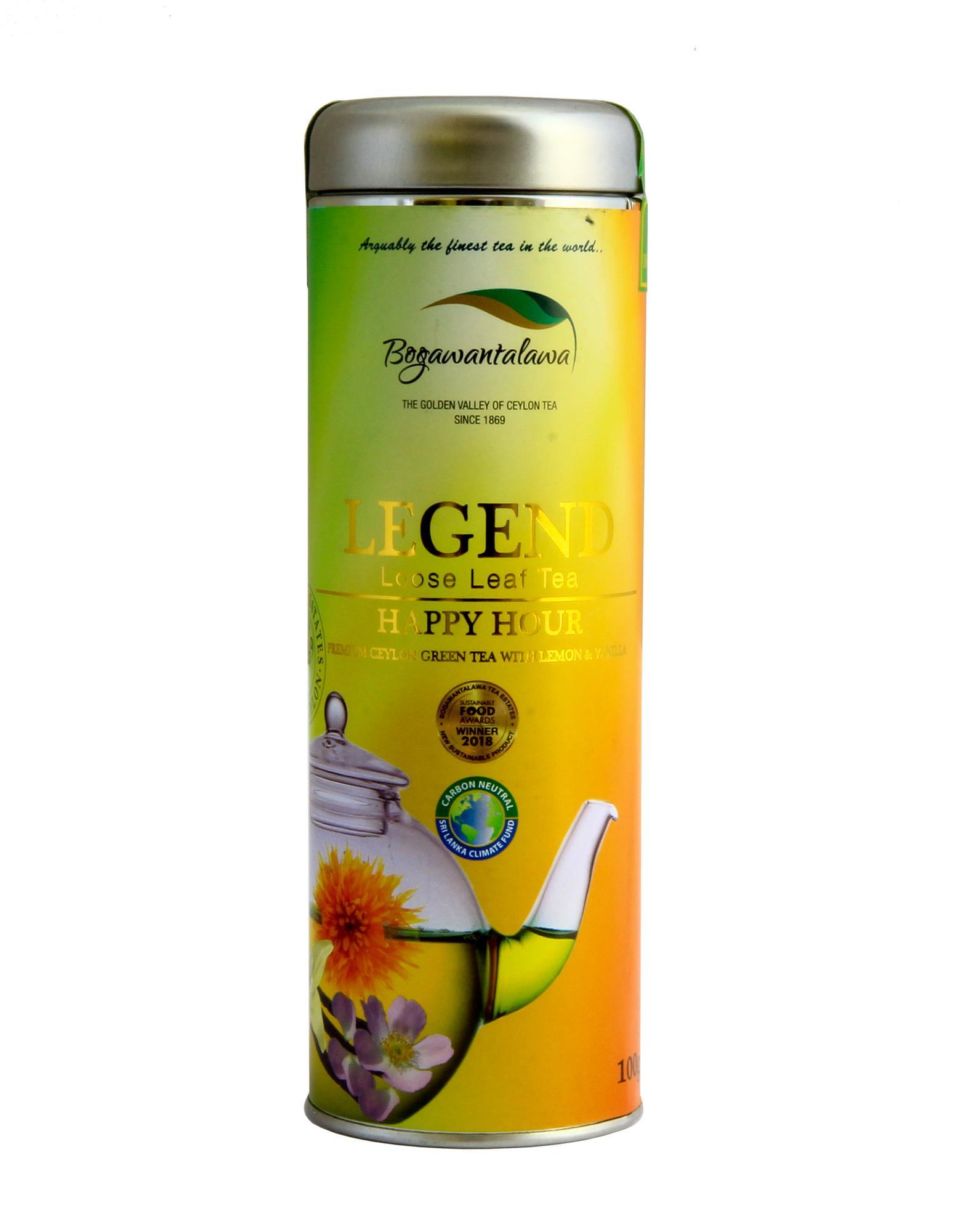 Herbata zielona cejlońska sencha liściasta Happy Hour - naturalneherbaty
