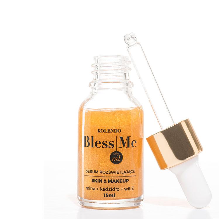 1 Dla uzyskania efektu lekkości na twarzy zmieszaj jedną kroplę Bless Me Saint Oil z codziennym podkładem. 2 Serum Rozświetlające Bless Me Saint Oil pozostawi twoją twarz promienną i odżywioną. 3 Serum nawilży i odżywi twoją skórę i nawet jeśli akurat miałaś nieprzespaną noc - nikt tego nie zauważy. 4 Pamiętaj, nawilżona i zadbana skóra to najlepsza wizytówka ! 5 Nocą skóra najlepiej się regeneruje, nie zapominaj o jej odpowiednim odżywieniu. 6 Nie tylko odżywiaj, ale również masuj skórę swojej twarzy, aby pozostała jędrna i piękna mimo lat. Olej z wiesiołka jest jednym z najlepszych źródeł kwasu gamma-linolowego (GLA) oraz kwasu alfa-linolowego (ALA). Oba kwasy pełnią kluczową rolę dla zdrowia i urody. GLA jest bardzo ważnym składnikiem dla skóry. Wchodzi on w skład fosfolipidów budujących błony komórkowe, mając wpływ na transport substancji odżywczych. Jest elementem budulcowym składników cementu międzykomórkowego spajającego komórki naskórka. Wpływa korzystnie na krążenie krwi w skó