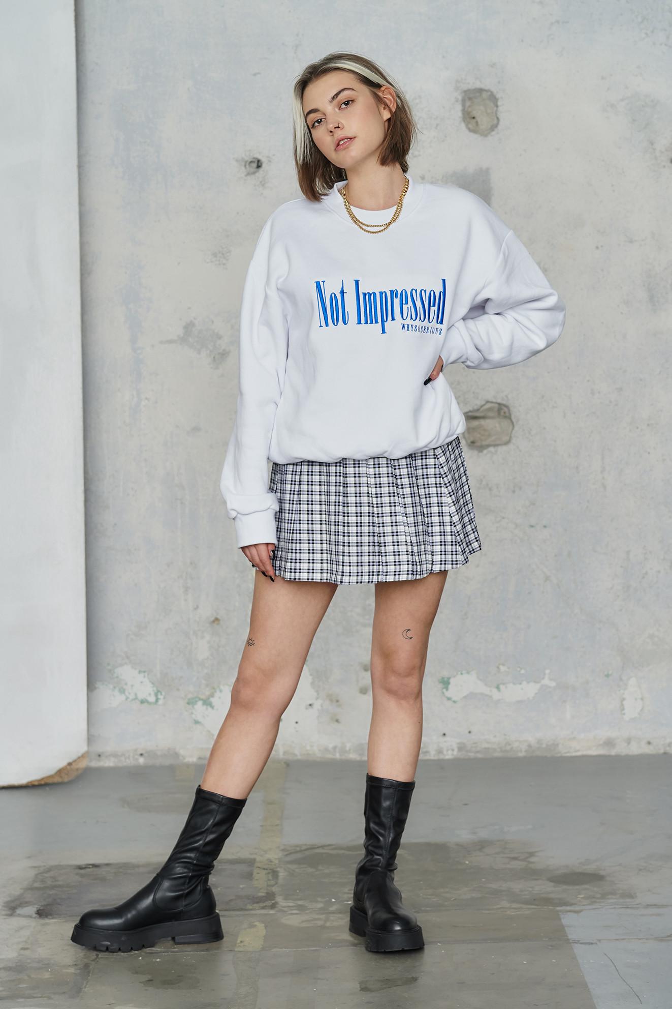 Not Impressed Sweatshirt - whysoserious | JestemSlow.pl