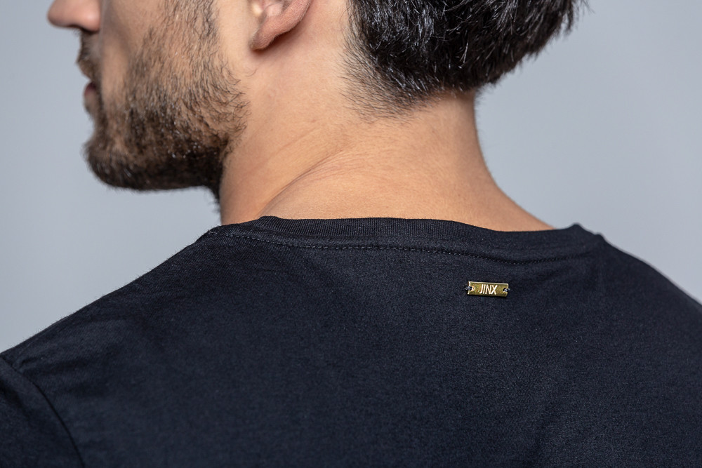Koszulka z bawełny ekologicznej czarna - Jimmy Jinx