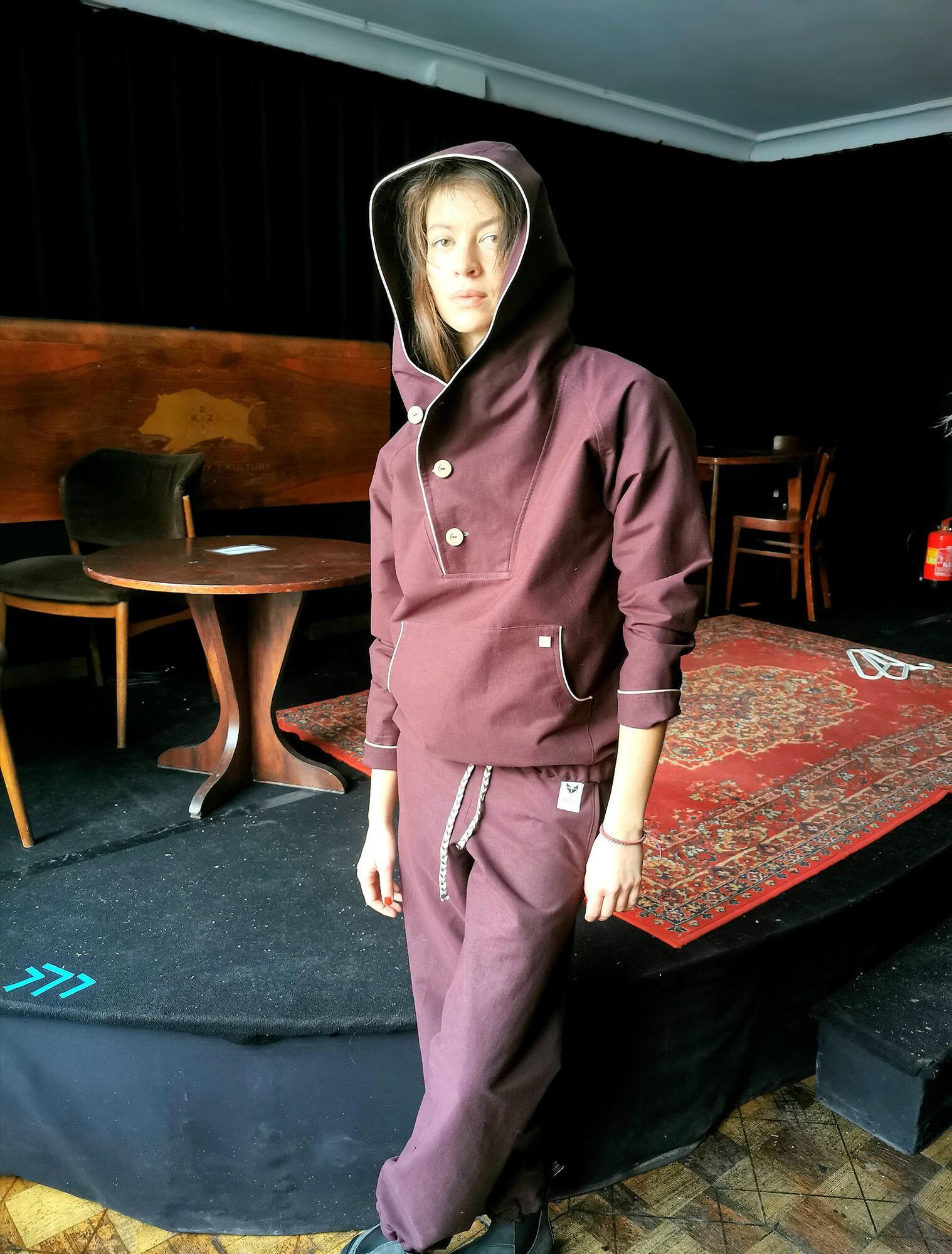Spodnie HAJDEWARY tibetan monk burgund (PRZEDSPRZEDAŻ) - HAJDE   JestemSlow.pl