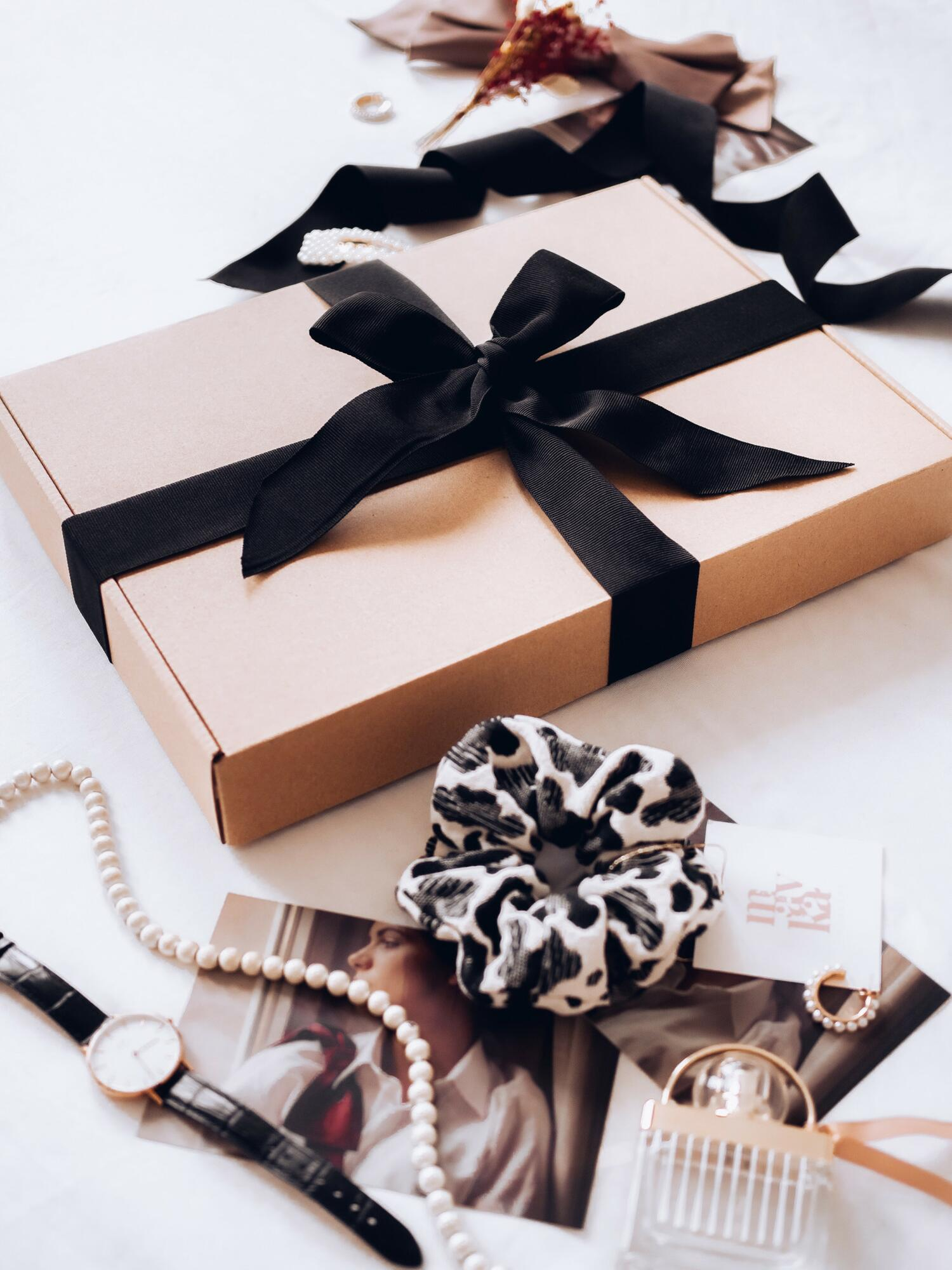 MavkaBox: opaska black pantera + gumka bordo jedwab + pakowanie na prezent - mavka concept   JestemSlow.pl