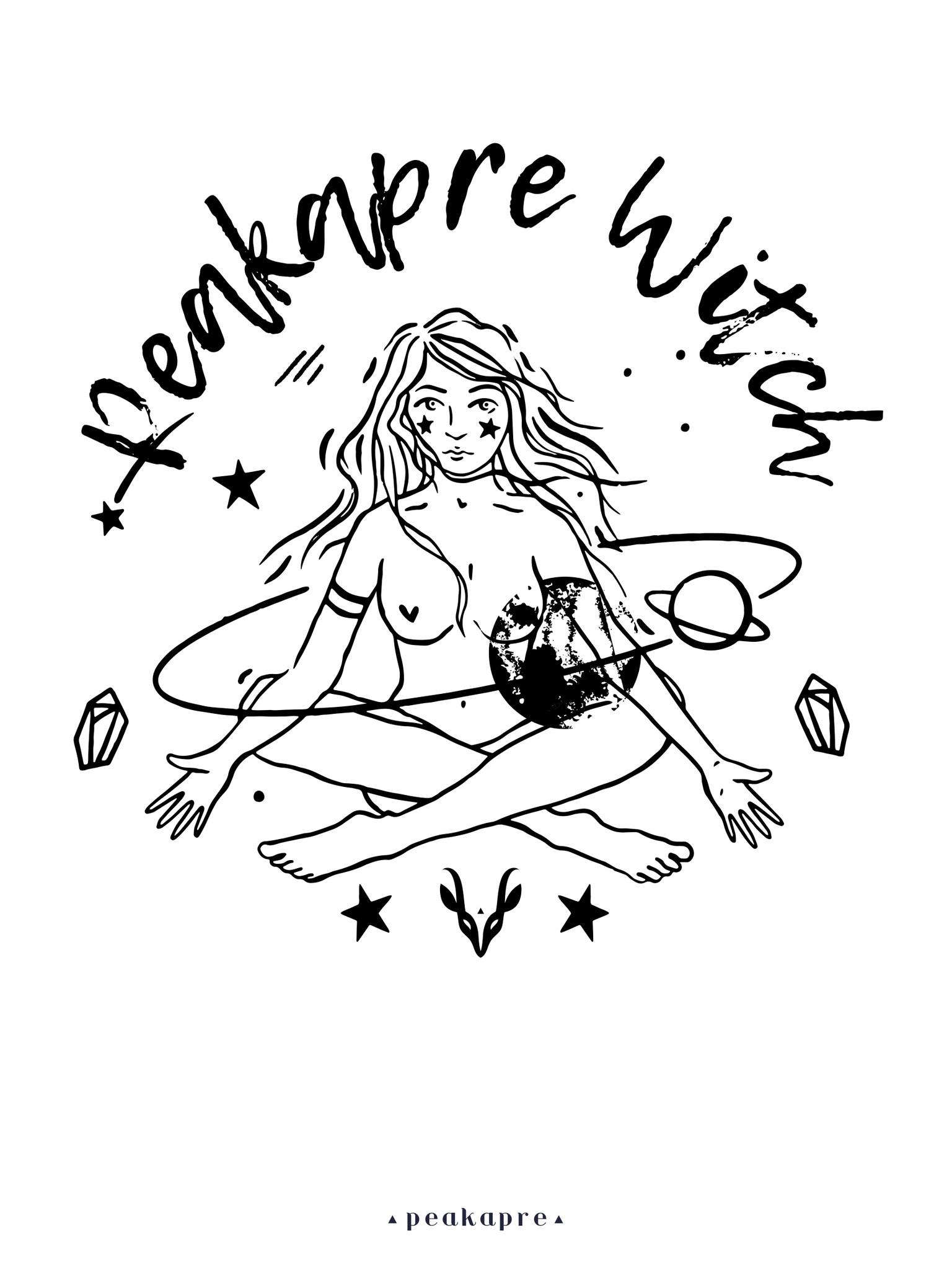 """Plakat artystyczny z grafiką Peakapre """"Witch"""" z kolekcji Merkury - Peakapre"""